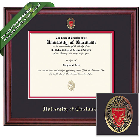Product: University of Cincinnati 8.5'' x 11'' Classic Diploma Frame