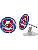 South Carolina State University Bulldogs Domed Earrings