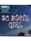 SC State Girl Decal