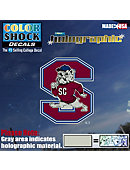 South Carolina State University Bulldogs Hologram Stand Decal