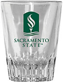 Sacramento State 2 oz. Fluted Collector's Glass