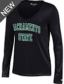 Sacramento State Women's V-Neck Long Sleeve T-Shirt
