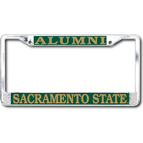 product sacramento state alumni chrome license plate frame