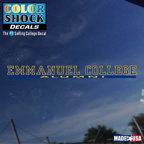 Product: Emmanuel College Alumni Strip Decal