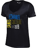 Emmanuel College Saints Women's V-Neck T-Shirt