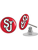 St. John's University Domed Earrings