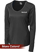 Cutter & Buck John Carroll University Women's DryTec Long Sleeve Mogul V-Neck - ONLINE ONLY