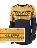 John Carroll University Women's Long Sleeve Ugly Sweater Ra Ra Shirt