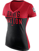 Nike University of Georgia Women's V-Neck T-Shirt