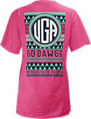 University of Georgia Bulldogs Women's V-Neck T-Shirt
