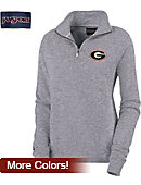 University of Georgia Women's 1/4 Zip Chelsea Fleece Pullover