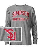 Simpson University Long Sleeve Victory Falls T-Shirt