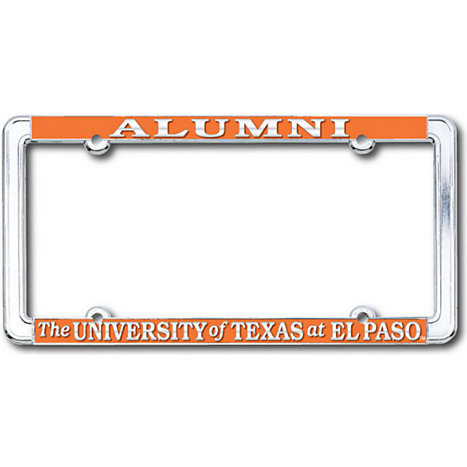 Product: University of Texas El Paso 'Alumni' License Plate Frame