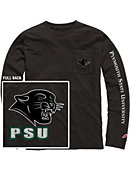 Plymouth State University Panthers Vintage Washed Long Sleeve Pocket T-Shirt