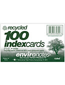Index Card 3x5' 100 Count Ruled Recycled