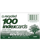 INDEXCARD 4x6 100CT RECY RULED