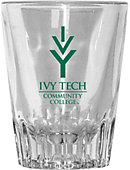 Ivy Tech Community College 2 oz. Fluted Collector's Glass