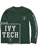 Ivy Tech Community College Vintage Washed Long Sleeve Pocket T-Shirt