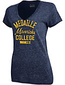 Medaille College Mavericks Women's Tri-Blend Short Sleeve V-Nevck T-Shirt