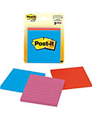 Post-it Notes Jaipur Collection, Lined, 3 Pads/Pack