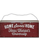 Texas Woman's University  'Home Sweet Home' Tin Sign