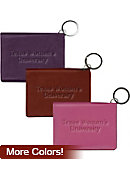 Texas Woman's University  Leather ID Holder