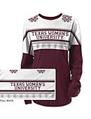 Texas Woman's University  Women's Long Sleeve Ugly Sweater Ra Ra Shirt