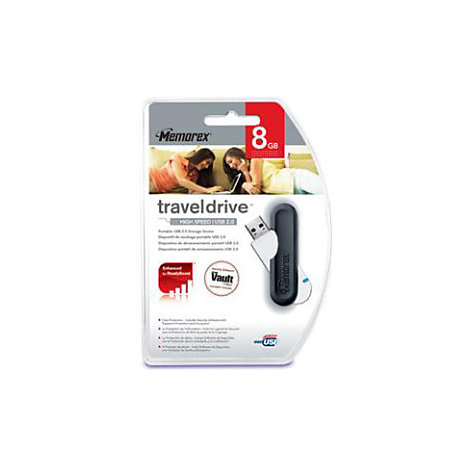 Product: MEMOREX 8GB USB 2.0 TRAVEL DRIVE