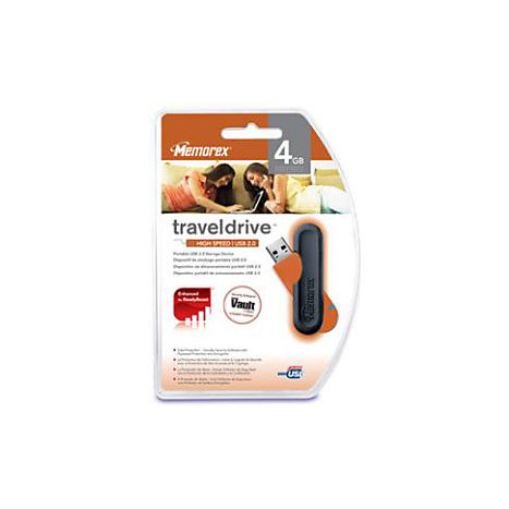 Product: MEMOREX 4GB USB 2.0 TRAVEL DRIVE