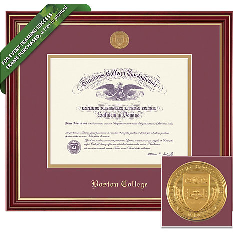 framing success boston college 14 x 17 regal diploma frame