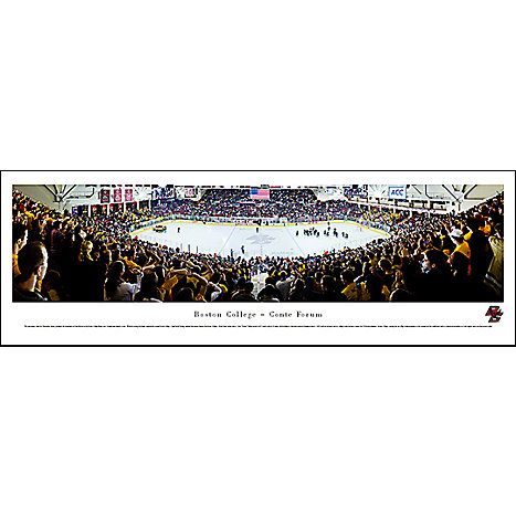 Product: Boston College Eagles Hockey Panorama Print 13.5'' x 40''