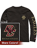 Boston College Vintage Washed Long Sleeve Pocket T-Shirt
