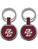 Boston College Double Ring Keychain