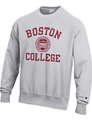 1607F Boston College Reverse Weave Crew Sweatshirt