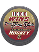 Boston College Eagles Hockey Coach York 1000 Wins Puck