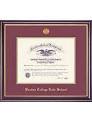 Boston College Law School 14'' x 17'' Windsor Law Diploma Frame