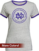 University of North Dakota Women's Athletic Fit Ringer Short Sleeve T-Shirt