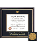 Loyola University Chicago Stritch School of Medicine Prestige Diploma Frame with Medallion