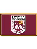 Loyola University Chicago 2.2''x3.6'' Dome Magnet