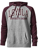 Loyola University Chicago Tri-Blend Color Block Hooded Sweatshirt
