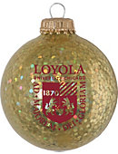 Loyola University Chicago Sparkle Ornament Ball