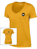 Wayne State College Women's Atheltic Fit V-Neck Short Sleeve T-Shirt