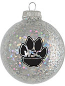 Wayne State College Wildcats Sparkle Ornament Ball
