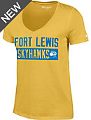Fort Lewis College Skyhawks Women's V-Neck T-Shirt