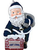 Fort Lewis College 3 in. Rooftop Santa Ornament