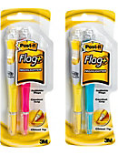 Post-it Flag+ Highlighter 50 Color Coordinated Flags/Highlighter, 2/Pack
