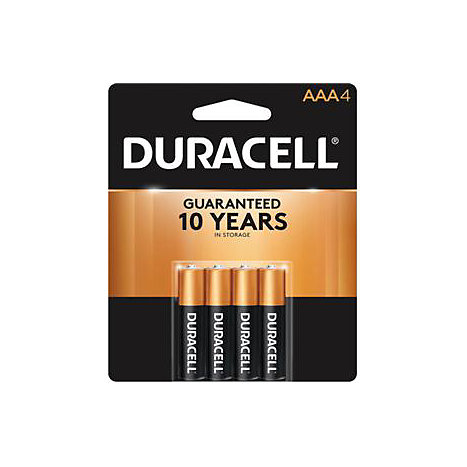 Product: BATTERY 4PACK AAA DURACELL