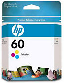 HEWLETT PACKARD INK CART HP 60 COLOR CC643WN#140