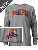 Baker University Wildcats Long Sleeve Victory Falls T-Shirt