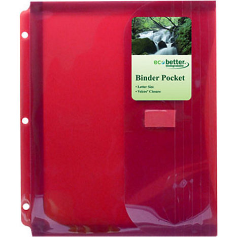 Product: Binder Pocket W/ Gusset Poly BIO